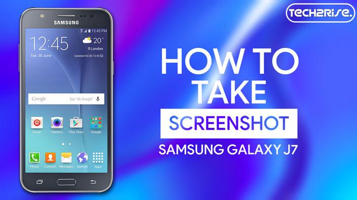 How To Take Screenshot In Samsung Galaxy J7