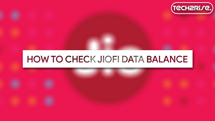 Check JioFi Data Balance