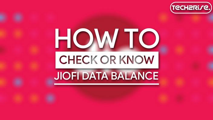 How To Check JioFi Data Balance