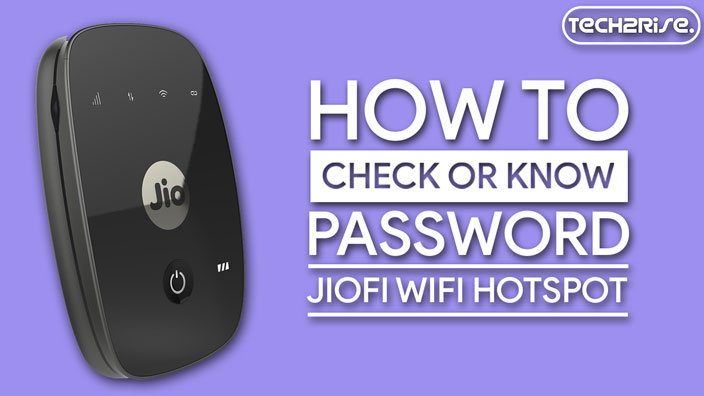 How To Know JioFi Password
