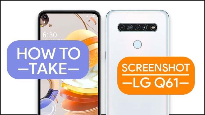 Take Screenshot In LG Q61