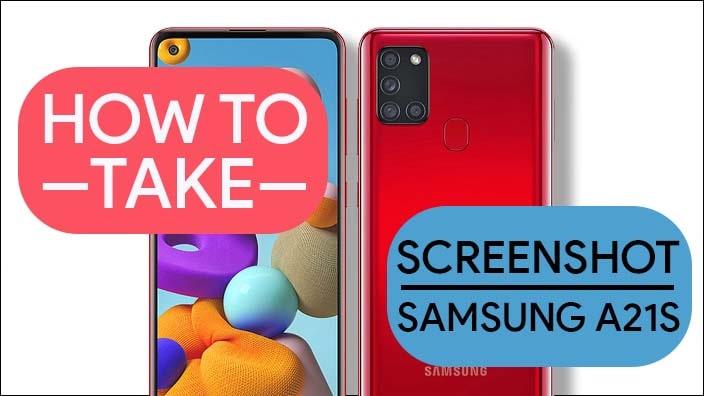 Take Screenshot In Samsung Galaxy A21s