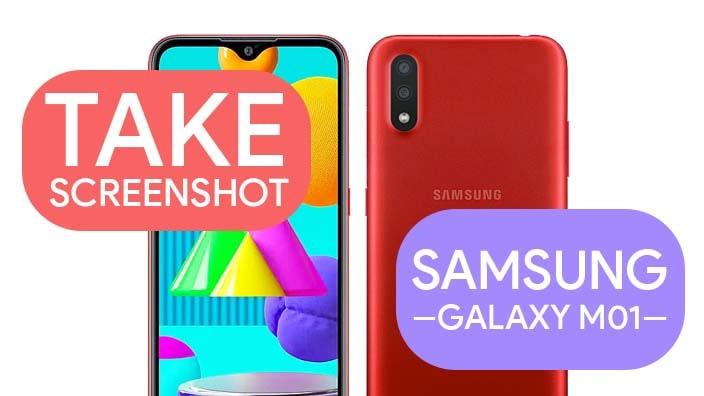 Take Screenshot In Samsung Galaxy M01