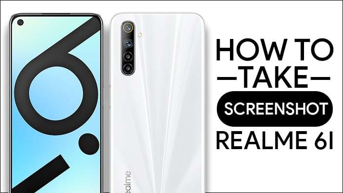 Take Screenshot In Realme 6i