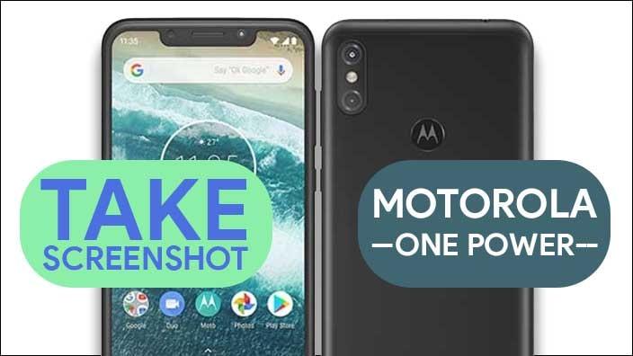 Take Screenshot In Moto One Power