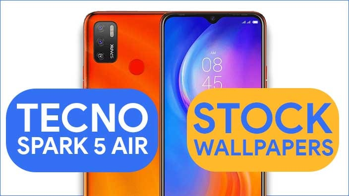 Tecno Spark 5 Air Stock Wallpapers