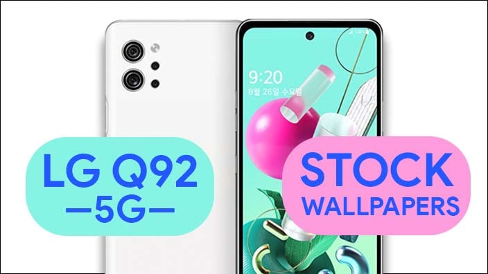 LG Q92 5G Stock Wallpapers