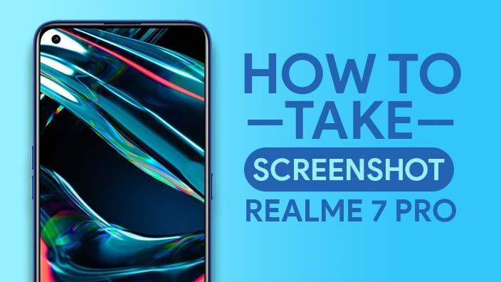 Take Screenshot In Realme 7 Pro