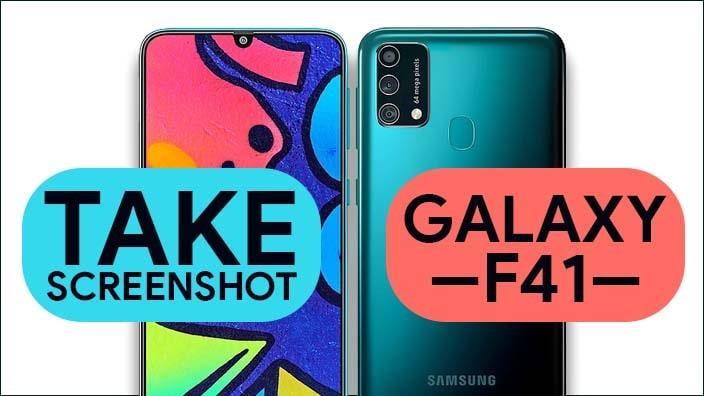 Take Screenshot In Samsung Galaxy F41