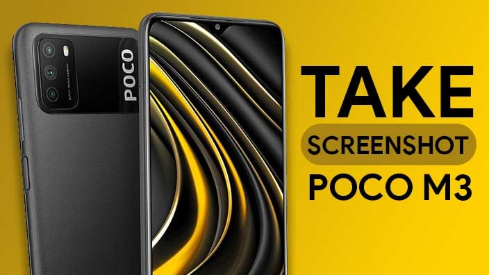 Take Screenshot In Poco M3