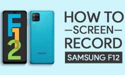 How to Screen Record On Samsung Galaxy F12 – 2 EASY WAYS!