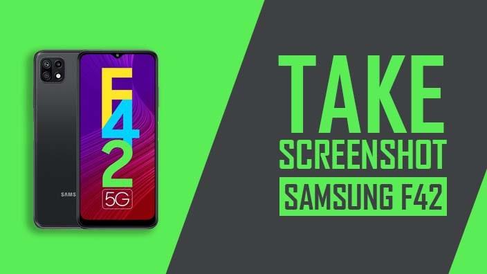 How to Take Screenshot on Samsung Galaxy F42 5G